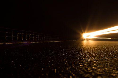 Auto in de nacht van