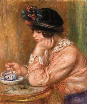 Renoir, Mädchen mit einer Tasse Schokolade (1914)