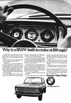 Vintage advertentie 1968 BMW 2002 van Jaap Ros