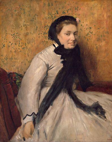 Portret van een Vrouw in Gray, Edgar Degas van Meesterlijcke Meesters