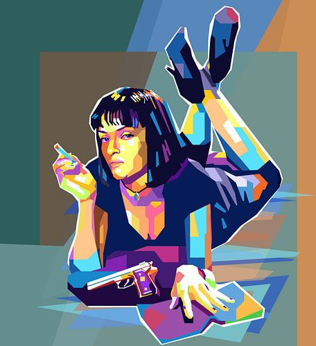 Pulp Fiction Pop Art Schilderij Mia Wallace Uma Thurman van Kunst Company