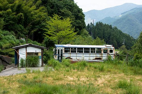 Oude bus van