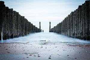 Strandpalen bij Middelburg