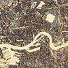 Sloophoutkaart Rotterdam van Frans Blok thumbnail