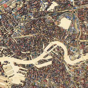 Abbruchholz-Karte Rotterdam von Frans Blok