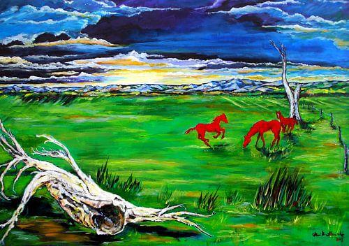 Pferde auf der Weide von