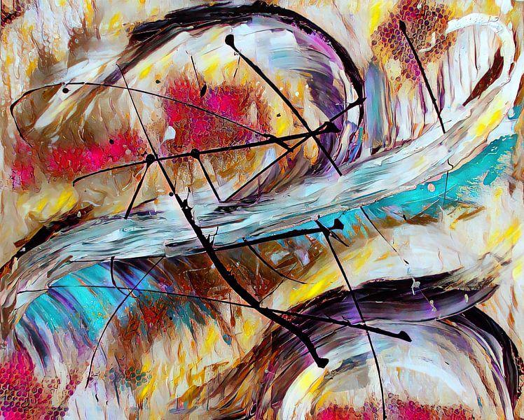 Abstrakte Kunst  - Der Flug des Phoenix von Patricia Piotrak