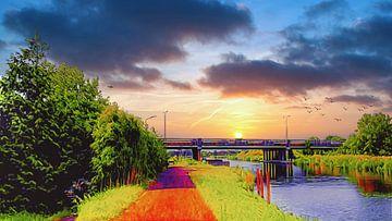 Nollenbrug bij Heerhugowaard van Digital Art Nederland