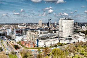 HDR Rotterdam Erasmus MC skyline van W J Kok