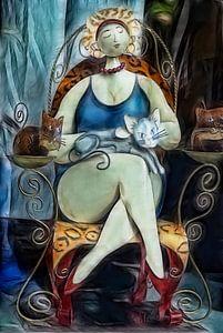 De Dame van de Kat van