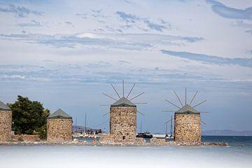 Moulins en Grèce sur Miranda van Hulst