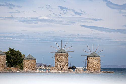 Molens in Griekenland van Miranda van Hulst