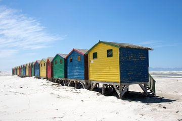 Gekleurde strandshuisjes von Jolanda van Eek