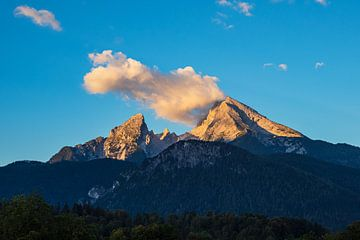 Blick auf den Berg Watzmann im Berchtesgadener Land von Rico Ködder