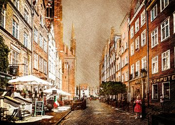 Gdansk Polen landschap stad #Gdansk van JBJart Justyna Jaszke