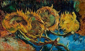 Vier Sonnenblumen verwelken, Vincent van Gogh