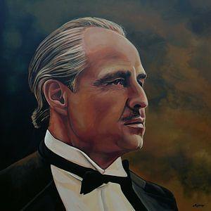 Marlon Brando Schilderij