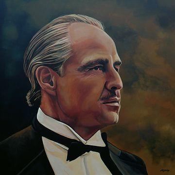 Marlon Brando Schilderij van Paul Meijering