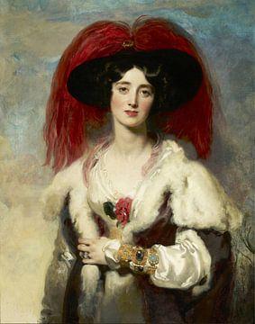 Julia, Lady Peel, Thomas Lawrence sur
