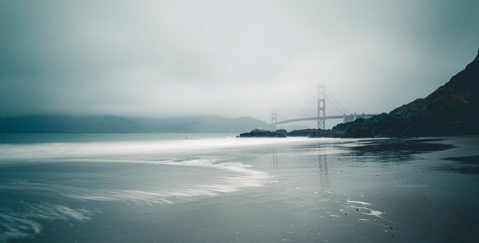 Golden Gate vanaf Baker Beach van Jasper van der Meij