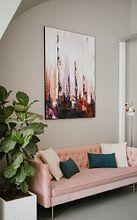 Klantfoto: Crimson Forest van Maria Kitano, als print op doek