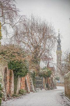 Veere in de sneeuw met het carillon van anne droogsma