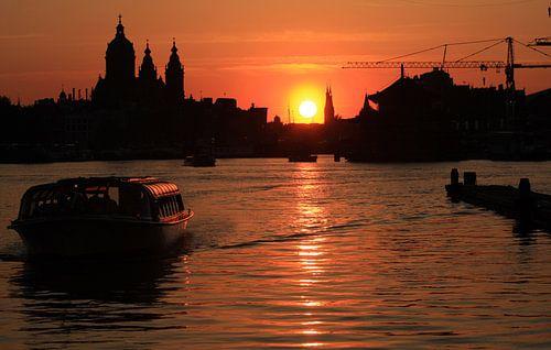 Zonsondergang Amsterdam
