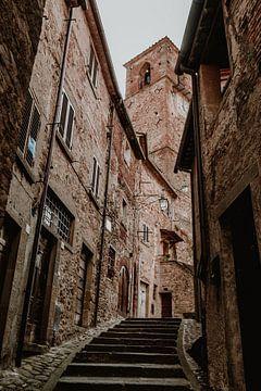 Oude steden van Italië architectuur in Toscane van Anouk Strijbos