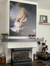 Kundenfoto: Christus im Sturm auf dem See von Galiläa, Rembrandt vom Rhein, auf alu-dibond