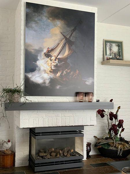 Kundenfoto: Christus im Sturm auf dem See von Galiläa, Rembrandt vom Rhein