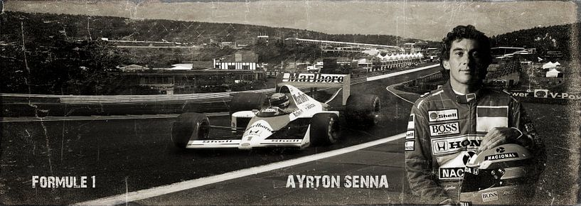 Ayrton Senna foto portret van Bert Hooijer