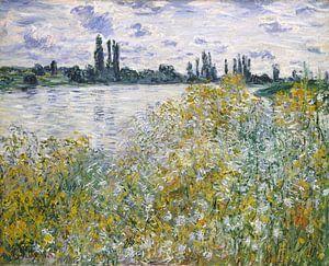 Île aux Fleurs dichtbij Vetheuil, Claude Monet van Meesterlijcke Meesters