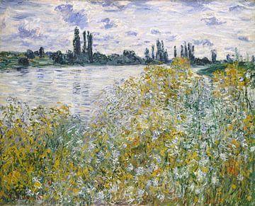 Île aux Fleurs près de Vétheuil, Claude Monet sur
