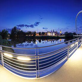 Dessau Panorama in der blauen Stunde von Frank Herrmann