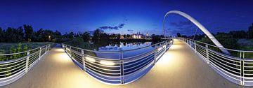 Dessau Panorama in der blauen Stunde