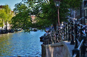 Een zomerse dag in Amsterdam van Marije van der Vies