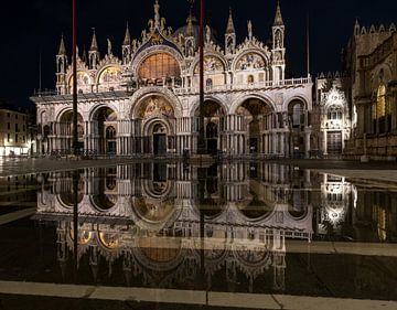 Basilika San Marco zweimal von Albert Mendelewski