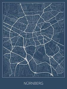 Nürnberg, blau von Geodat