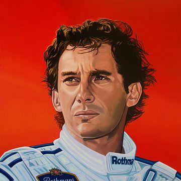 Ayrton Senna Schilderij van Paul Meijering
