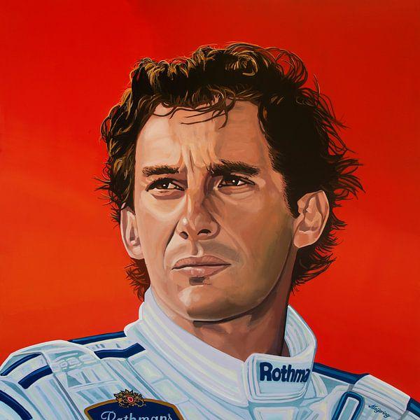 Ayrton Senna Malerei von Paul Meijering