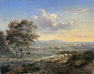 Hilly Landscape with a Rider on a Country Road, Jan Wijnants