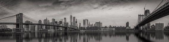 New York panorama met twee bruggen