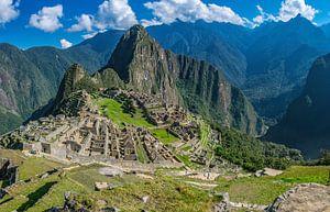 Overzicht van de verborgen stad, Machu Picchu, Peru van