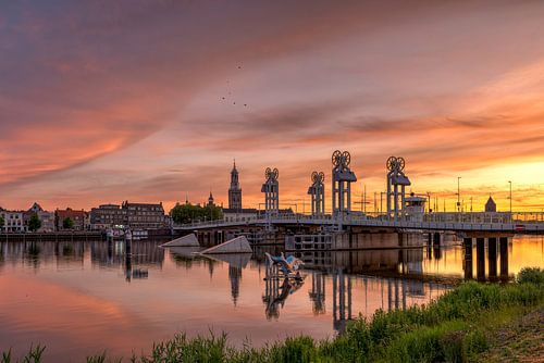 Stadsbrug Kampen zonsondergang