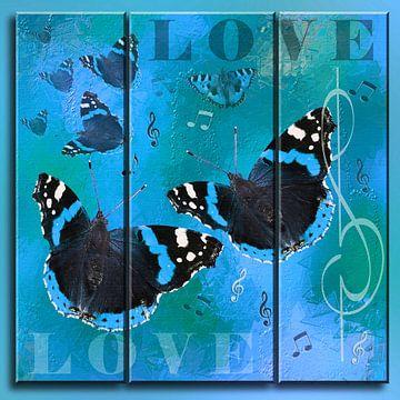 Liefde - Triptych van Christine Nöhmeier