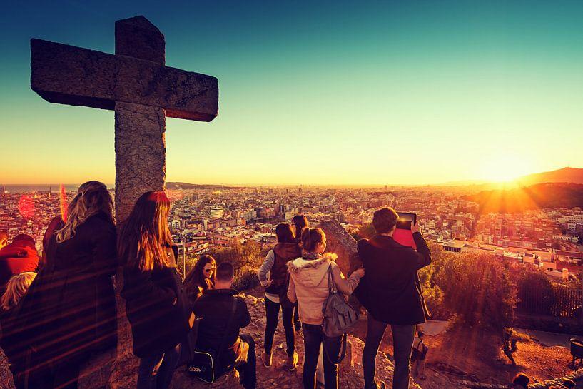 Barcelona Sunset van Alexander Voss