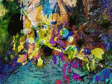 Modern, Abstract Digitaal Kunstwerk – Love And Stardust van Art By Dominic