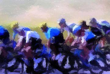 Wielrenners in de Tour de France, hoog tempo van Paul