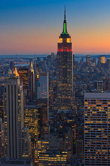 Empire State Building in New York City van Henk Meijer Photography