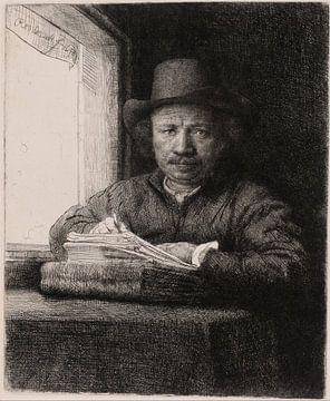 Selbstporträt am Fenster, Rembrandt van Rijn